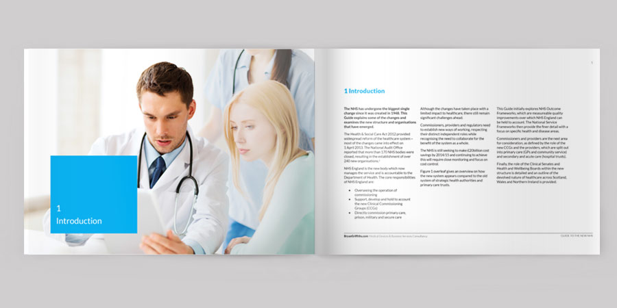 NHS guide book design and layout Chester, Manchester, Liverpool