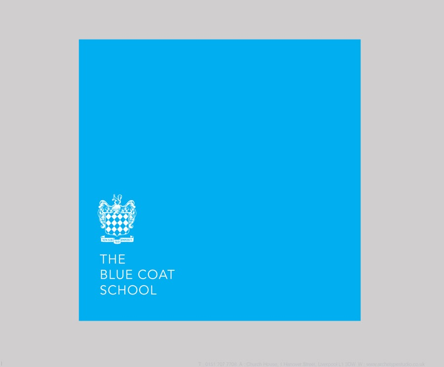 Blue Coat School Liverpool Brand Identity