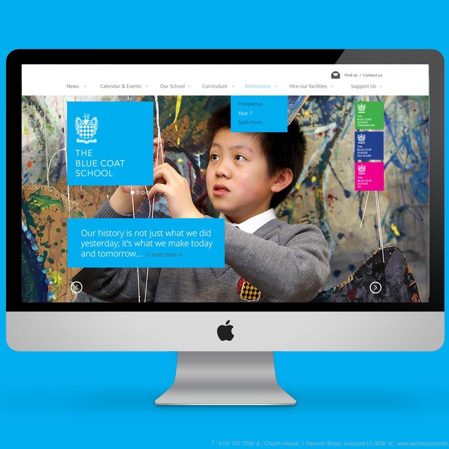 Blue Coat School Liverpool Website Design