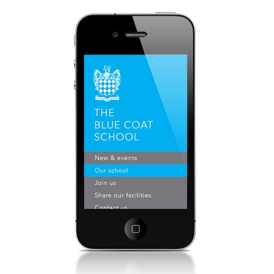 Blue Coat School Liverpool Moile Website Design