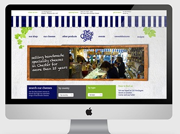 Chester Cheese Shop Web Design